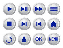 Collection of buttons Stock Image