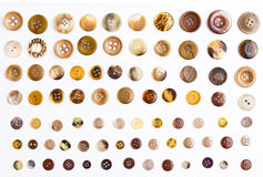 Collection of  buttons on white background Royalty Free Stock Photo