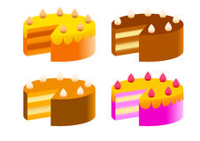 Collection of cakes Royalty Free Stock Photography