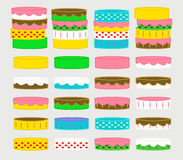 Collection Cakes. A collection of cakes for pastry or bakery. Can be stacked as a tower cake Stock Photography