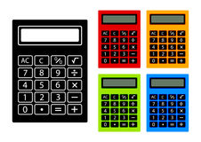 Collection of calculators Royalty Free Stock Photo