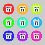 Collection calendar icon vector. Isolated on a gray background. Symbol Calendar for your website design, logo, application user interface. The flat style Stock Photos