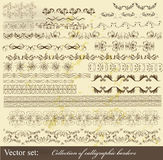Collection of calligraphic borders Stock Images