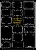 Collection of calligraphic scrolls. (Vector) Royalty Free Stock Images