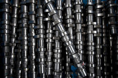 Collection of cam shaft,part of vehicla engine Stock Photography