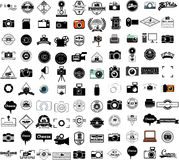 Collection of camera icons Royalty Free Stock Photo