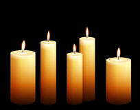 Collection of candle illustrations Stock Image