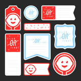 Collection of candy journaling cards Royalty Free Stock Image