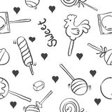 Collection candy on white background doodles. Vector art Stock Image