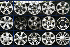 Collection Car Alloy wheel discs Royalty Free Stock Photography