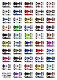 Collection car Royalty Free Stock Photos