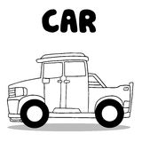 Collection of car wirth hand draw Royalty Free Stock Image