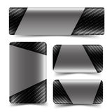 Collection of Carbon fiber web tag banner and decoration vector. Carbon fiber web tag banner and decoration vector illustration eps10 stock illustration