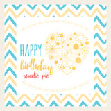 Collection of card template and backgrond with colors waves. Yellow sun icons made shape if heart. Stock Photo