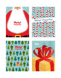 Collection card templates Christmas and new year.  Stock Image