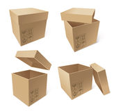 Collection of cardboard boxes Stock Photography