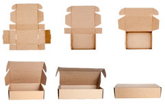 Collection of cardboard boxes Royalty Free Stock Photography