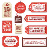Collection of Cardboard Christmas Tags and Labels Stock Photography