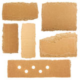 Collection of a cardboard pieces Stock Images