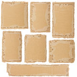 Collection of a cardboard pieces Royalty Free Stock Photo