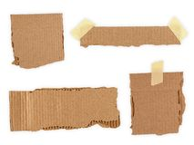 Collection of a cardboard pieces isolated on white Royalty Free Stock Photography