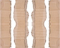Collection of a cardboard pieces on white background Royalty Free Stock Images