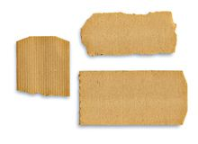 Collection of a cardboard pieces on white background Royalty Free Stock Image