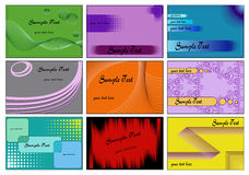 Collection of cards 1 Royalty Free Stock Photo