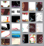Collection cards Royalty Free Stock Image