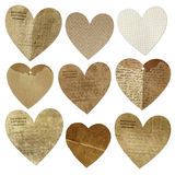 Collection cards  hearts Royalty Free Stock Photos