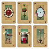 Collection cards Wonderland Royalty Free Stock Images