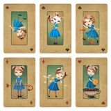Collection cards Wonderland Royalty Free Stock Image