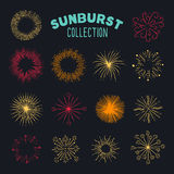 Collection of carefully designed rounded explosions. Even more explosions / or sun bursts in this handy collection. Perfect for badges or new years greeting Royalty Free Stock Images