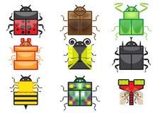 Collection carrée d'icône d'insecte illustration de vecteur