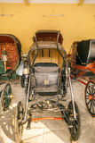 Collection of carriages in the City Palace in Jaipur Royalty Free Stock Photography