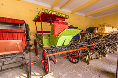 Collection of carriages in the City Palace in Jaipur Stock Photography
