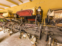 Collection of carriages in the City Palace in Jaipur Royalty Free Stock Photos