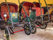 Collection of Carriages in the City Palace in  Jaipur, India. Royalty Free Stock Photo