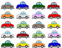 Collection cars Stock Images
