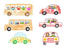 Collection of cars Royalty Free Stock Images