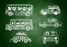 Collection of cars Royalty Free Stock Image