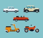 Collection cars motorcycles expensive Stock Image