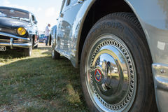 Collection cars for vintage car show Stock Photos