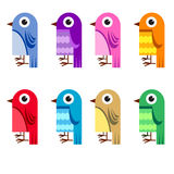 Collection of cartoon birds Royalty Free Stock Photography