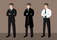 Collection of cartoon businessmen Stock Images