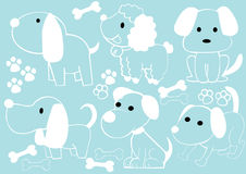 Collection of cartoon dogs Stock Photo