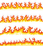 Collection of cartoon flames Stock Photography