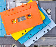 Collection of cassette Royalty Free Stock Images