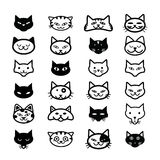 Collection of cat icons, illustration Stock Photography