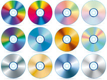 Collection CD Images stock